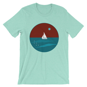 Northern Star Unisex T-Shirt, Collection Fjaka-Heather Mint-S-Tamed Winds-tshirt-shop-and-sailing-blog-www-tamedwinds-com