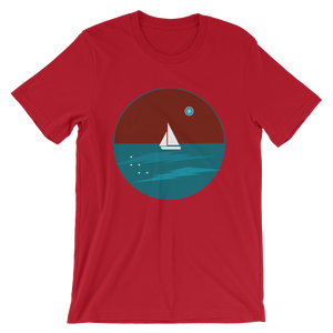 Northern Star Unisex T-Shirt, Collection Fjaka-Red-S-Tamed Winds-tshirt-shop-and-sailing-blog-www-tamedwinds-com