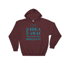 One Idea Away Unisex Hooded Sweatshirt, Collection Origami Boat-Maroon-S-Tamed Winds-tshirt-shop-and-sailing-blog-www-tamedwinds-com