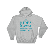 One Idea Away Unisex Hooded Sweatshirt, Collection Origami Boat-Sport Grey-S-Tamed Winds-tshirt-shop-and-sailing-blog-www-tamedwinds-com