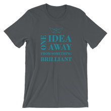One Idea Away Unisex T-Shirt, Collection Origami Boat-Asphalt-S-Tamed Winds-tshirt-shop-and-sailing-blog-www-tamedwinds-com