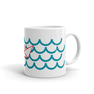One Paper Boat Mug 325 ml, Collection Origami Boat-Tamed Winds-tshirt-shop-and-sailing-blog-www-tamedwinds-com