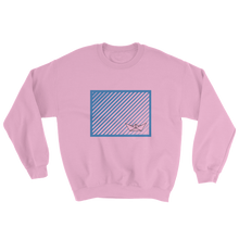 Paper Boat Unisex Crewneck Sweatshirt, Collection Origami Boat-Light Pink-S-Tamed Winds-tshirt-shop-and-sailing-blog-www-tamedwinds-com