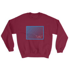 Paper Boat Unisex Crewneck Sweatshirt, Collection Origami Boat-Maroon-S-Tamed Winds-tshirt-shop-and-sailing-blog-www-tamedwinds-com