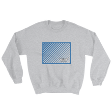 Paper Boat Unisex Crewneck Sweatshirt, Collection Origami Boat-Sport Grey-S-Tamed Winds-tshirt-shop-and-sailing-blog-www-tamedwinds-com