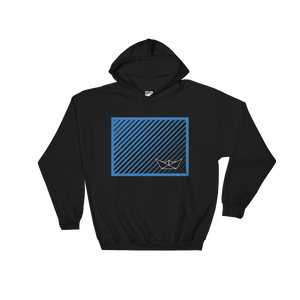 Paper Boat Unisex Hooded Sweatshirt, Collection Origami Boat-Black-S-Tamed Winds-tshirt-shop-and-sailing-blog-www-tamedwinds-com