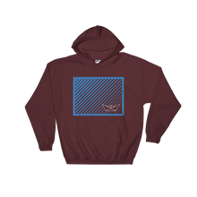 Paper Boat Unisex Hooded Sweatshirt, Collection Origami Boat-Maroon-S-Tamed Winds-tshirt-shop-and-sailing-blog-www-tamedwinds-com