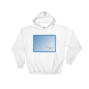 Paper Boat Unisex Hooded Sweatshirt, Collection Origami Boat-White-S-Tamed Winds-tshirt-shop-and-sailing-blog-www-tamedwinds-com