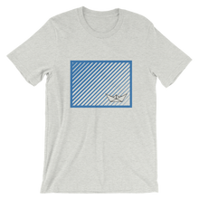 Paper Boat Unisex T-Shirt, Collection Origami Boat-Ash-S-Tamed Winds-tshirt-shop-and-sailing-blog-www-tamedwinds-com