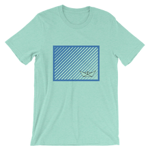 Paper Boat Unisex T-Shirt, Collection Origami Boat-Heather Mint-S-Tamed Winds-tshirt-shop-and-sailing-blog-www-tamedwinds-com
