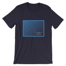 Paper Boat Unisex T-Shirt, Collection Origami Boat-Navy-S-Tamed Winds-tshirt-shop-and-sailing-blog-www-tamedwinds-com