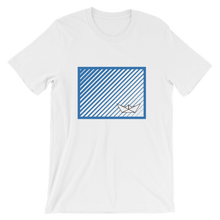 Paper Boat Unisex T-Shirt, Collection Origami Boat-White-S-Tamed Winds-tshirt-shop-and-sailing-blog-www-tamedwinds-com