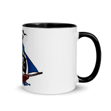Pirate Schooner Mug With Black Color Inside 325 ml, Collection Ships & Boats-Tamed Winds-tshirt-shop-and-sailing-blog-www-tamedwinds-com