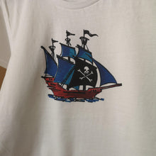 Pirate Schooner Unisex T-Shirt, Collection Ships & Boats-Tamed Winds-tshirt-shop-and-sailing-blog-www-tamedwinds-com