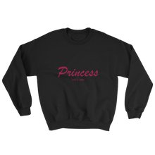 Princess Unisex Crewneck Sweatshirt, Collection Nicknames-Black-S-Tamed Winds-tshirt-shop-and-sailing-blog-www-tamedwinds-com