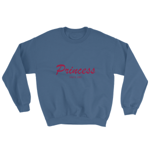 Princess Unisex Crewneck Sweatshirt, Collection Nicknames-Indigo Blue-S-Tamed Winds-tshirt-shop-and-sailing-blog-www-tamedwinds-com