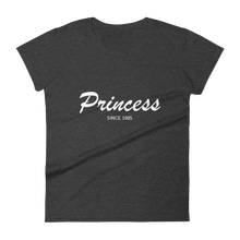 Princess Women's Round Neck T-Shirt, Collection Nicknames-Heather Dark Grey-S-Tamed Winds-tshirt-shop-and-sailing-blog-www-tamedwinds-com
