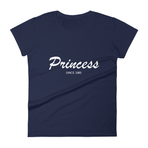 Princess Women's Round Neck T-Shirt, Collection Nicknames-Navy-S-Tamed Winds-tshirt-shop-and-sailing-blog-www-tamedwinds-com