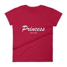 Princess Women's Round Neck T-Shirt, Collection Nicknames-Red-S-Tamed Winds-tshirt-shop-and-sailing-blog-www-tamedwinds-com