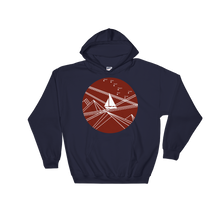 Red Stormy Big Dipper Unisex Hooded Sweatshirt, Collection Fjaka-Navy-S-Tamed Winds-tshirt-shop-and-sailing-blog-www-tamedwinds-com