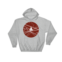 Red Stormy Big Dipper Unisex Hooded Sweatshirt, Collection Fjaka-Sport Grey-S-Tamed Winds-tshirt-shop-and-sailing-blog-www-tamedwinds-com