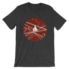 Red Stormy Big Dipper Unisex T-Shirt, Collection Fjaka-Dark Grey Heather-S-Tamed Winds-tshirt-shop-and-sailing-blog-www-tamedwinds-com