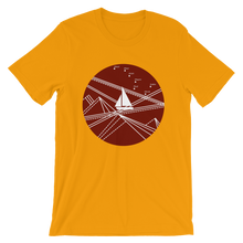 Red Stormy Big Dipper Unisex T-Shirt, Collection Fjaka-Gold-S-Tamed Winds-tshirt-shop-and-sailing-blog-www-tamedwinds-com