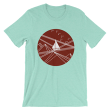 Red Stormy Big Dipper Unisex T-Shirt, Collection Fjaka-Heather Mint-S-Tamed Winds-tshirt-shop-and-sailing-blog-www-tamedwinds-com