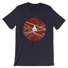 Red Stormy Big Dipper Unisex T-Shirt, Collection Fjaka-Navy-S-Tamed Winds-tshirt-shop-and-sailing-blog-www-tamedwinds-com