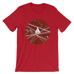Red Stormy Big Dipper Unisex T-Shirt, Collection Fjaka-Red-S-Tamed Winds-tshirt-shop-and-sailing-blog-www-tamedwinds-com