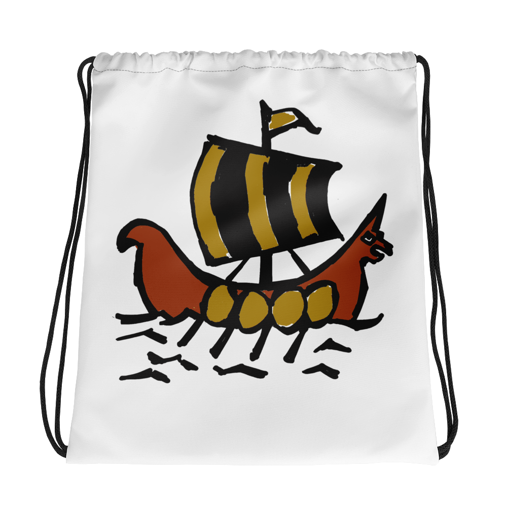 Roman Galleon Drawstring Bag, Collection Ships & Boats-Tamed Winds-tshirt-shop-and-sailing-blog-www-tamedwinds-com