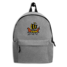 Roman Galleon Embroidered Backpack, Collection Ships & Boats-Tamed Winds-tshirt-shop-and-sailing-blog-www-tamedwinds-com