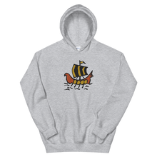 Roman Galleon Unisex Hooded Sweatshirt, Collection Ships & Boats-Sport Grey-S-Tamed Winds-tshirt-shop-and-sailing-blog-www-tamedwinds-com
