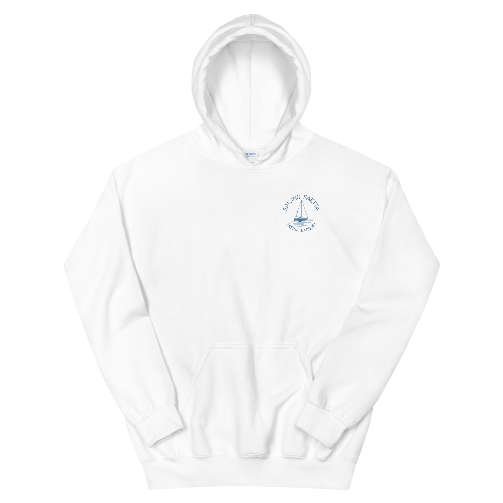 Sailing Saetta Unisex Hooded Sweatshirt-White-S-Tamed Winds-tshirt-shop-and-sailing-blog-www-tamedwinds-com