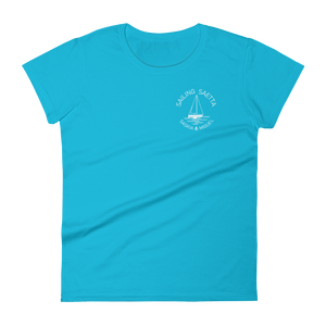 Sailing Saetta Women's Round Neck T-Shirt-Caribbean Blue-S-Tamed Winds-tshirt-shop-and-sailing-blog-www-tamedwinds-com