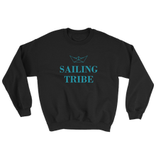 Sailing Tribe Unisex Crewneck Sweatshirt, Collection Origami Boat-Black-S-Tamed Winds-tshirt-shop-and-sailing-blog-www-tamedwinds-com
