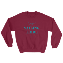 Sailing Tribe Unisex Crewneck Sweatshirt, Collection Origami Boat-Maroon-S-Tamed Winds-tshirt-shop-and-sailing-blog-www-tamedwinds-com