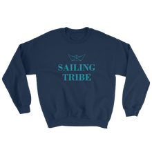 Sailing Tribe Unisex Crewneck Sweatshirt, Collection Origami Boat-Navy-S-Tamed Winds-tshirt-shop-and-sailing-blog-www-tamedwinds-com