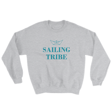 Sailing Tribe Unisex Crewneck Sweatshirt, Collection Origami Boat-Sport Grey-S-Tamed Winds-tshirt-shop-and-sailing-blog-www-tamedwinds-com
