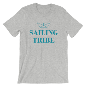 Sailing Tribe Unisex T-Shirt, Collection Origami Boat-Athletic Heather-S-Tamed Winds-tshirt-shop-and-sailing-blog-www-tamedwinds-com