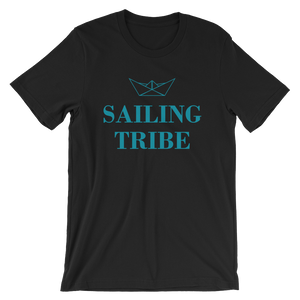 Sailing Tribe Unisex T-Shirt, Collection Origami Boat-Black-S-Tamed Winds-tshirt-shop-and-sailing-blog-www-tamedwinds-com