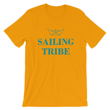 Sailing Tribe Unisex T-Shirt, Collection Origami Boat-Gold-S-Tamed Winds-tshirt-shop-and-sailing-blog-www-tamedwinds-com