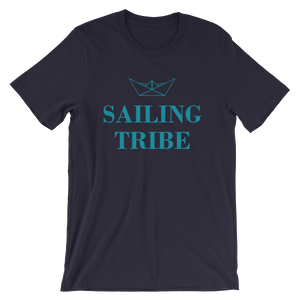 Sailing Tribe Unisex T-Shirt, Collection Origami Boat-Navy-S-Tamed Winds-tshirt-shop-and-sailing-blog-www-tamedwinds-com