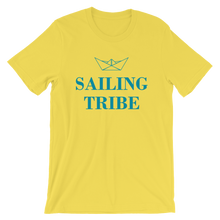Sailing Tribe Unisex T-Shirt, Collection Origami Boat-Yellow-S-Tamed Winds-tshirt-shop-and-sailing-blog-www-tamedwinds-com