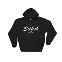 Selfish Unisex Hooded Sweatshirt, Collection Nicknames-Black-S-Tamed Winds-tshirt-shop-and-sailing-blog-www-tamedwinds-com
