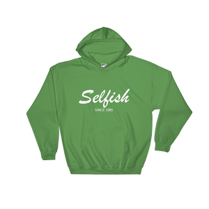 Selfish Unisex Hooded Sweatshirt, Collection Nicknames-Irish Green-S-Tamed Winds-tshirt-shop-and-sailing-blog-www-tamedwinds-com