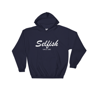 Selfish Unisex Hooded Sweatshirt, Collection Nicknames-Navy-S-Tamed Winds-tshirt-shop-and-sailing-blog-www-tamedwinds-com