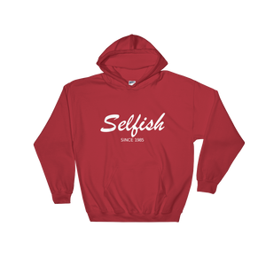 Selfish Unisex Hooded Sweatshirt, Collection Nicknames-Red-S-Tamed Winds-tshirt-shop-and-sailing-blog-www-tamedwinds-com