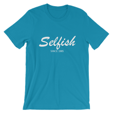 Selfish Unisex T-Shirt, Collection Nicknames-Aqua-S-Tamed Winds-tshirt-shop-and-sailing-blog-www-tamedwinds-com