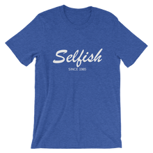 Selfish Unisex T-Shirt, Collection Nicknames-Heather True Royal-S-Tamed Winds-tshirt-shop-and-sailing-blog-www-tamedwinds-com